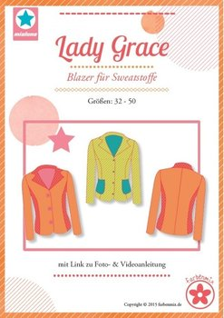 Lady Grace, een patroon van een blazer in de maten 32 t/m 50