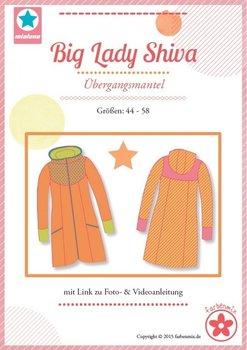 Big Lady Shiva, patroon van een jas in grote maten