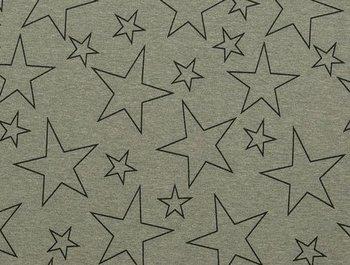 wintertricot grijs/zwart met grote sterren uit de serie Bielefeld