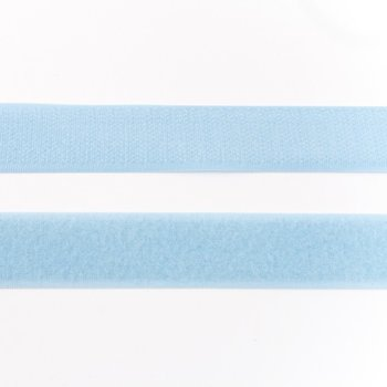 klittenband 25 mm breed lichtblauw