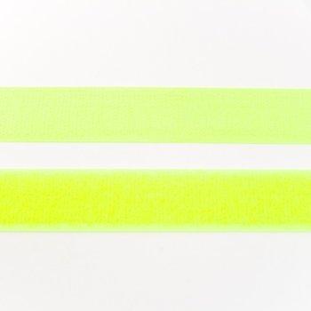 klittenband 25 mm breed, bijna neongeel
