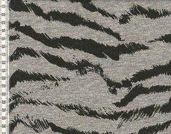 wintertricot grijs/zwart met zebraprint uit de serie Bielefeld