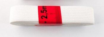 bosje elastiek 2,5 meter wit /20 mm breed