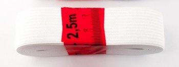 bosje elastiek 2,5 meter wit /25 mm breed