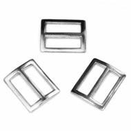 vierkante schuifgesp zilverkleurig metaal 25 mm