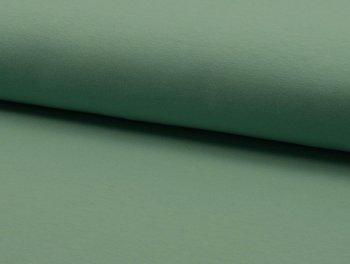 Tricot met stretch: grijzig-groen.
