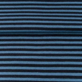 fijne boordstof jeansblauw/donkerblauw