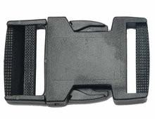 klikgesp zwart kunststof 38 mm