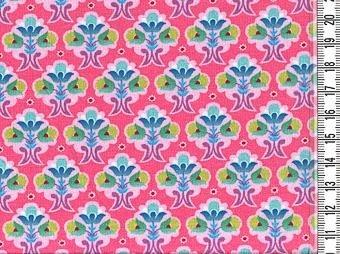 Flora: tricot kleine bloemetjes op roze