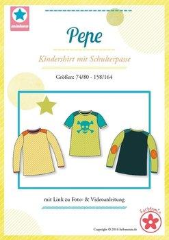 Pepe, shirt met schouderpassen in de maten  74/80, 86/92, 98/104, 110/116,...