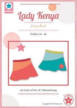 Lady Kenya, rok in de maten  34, 36, 38, 40, 42, 44, 46