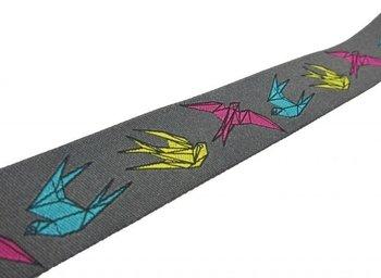 origami op grijs, sierband
