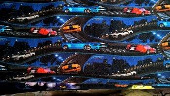 Holger: digitaal bedrukte tricot: race-auto's: Mustang