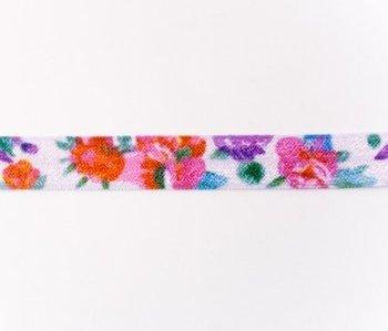 omvouwelastiek bloemen