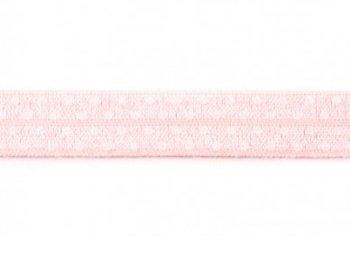 omvouwelastiek roze met witte stip