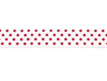 omvouwelastiek wit met rode stip