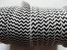 omvouwelastiek zigzag zwart/wit