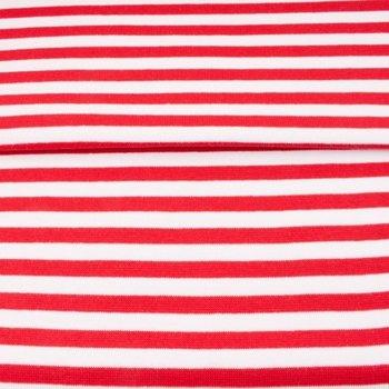 boordstof brede streep 0,8 cm rood-wit