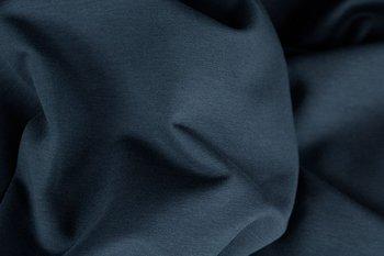 boordstof Jenaro, donkerjeansblauw,  de foto is van de bijpassende Jaro: jeanstricot