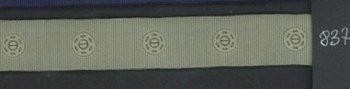 drukkertjesband groenig grijs: afstand 2,5 cm: HALVE meter