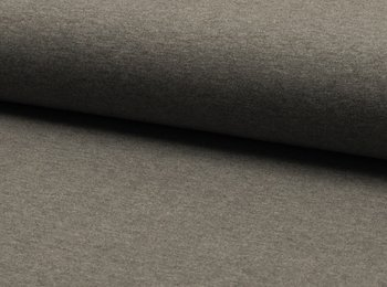 Tricot met stretch: lichter grijs mèlange