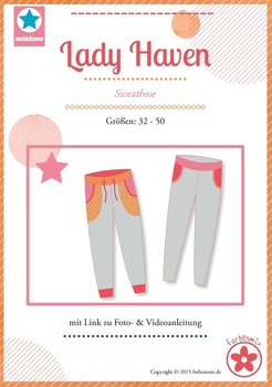 Lady Haven, smalle joggingbroek in de maten 32, 34, 36, 38, 40, 42, 44, 46, 48, 50