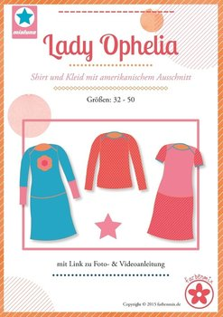 Lady Ophelia, tricot jurk in de maten 32, 34, 36, 38, 40, 42, 44, 46, 48, 50