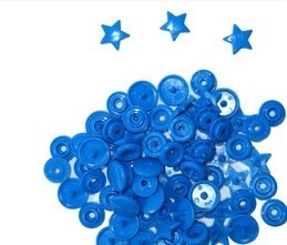 snaps felblauw glanzend ster: kleur 8
