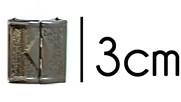 klemgesp oud-zilverkleurig metaal 30 mm voor het maken van een ceintuur
