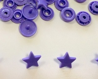 snaps lila/lavendel glanzend ster: kleur 28