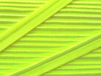 elastisch paspelband, neon-lichtgroen/geel