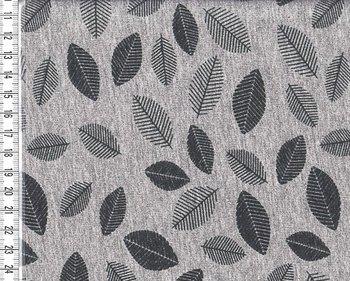 wintertricot grijs/zwart met kleine veertjes uit de serie Bielefeld