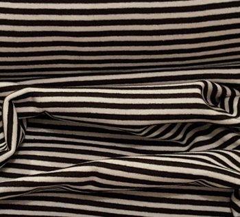 fijne boordstof brede streep 0,7 cm zwart-wit