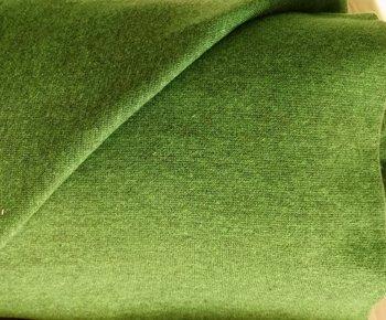 gemêleerde wintertricot geel/groen met bijpassende boordstof