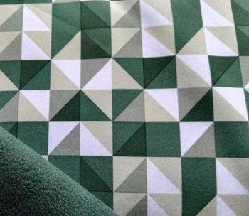 softshell driehoeken in groentinten/winddicht