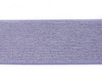 glitter-elastiek 5 cm breed :  /HALVE METER / jeansblauw