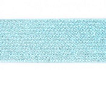 glitter-elastiek 5 cm breed :  /HALVE METER / mint