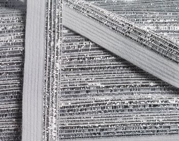 omvouwelastiek 1,6 cm breed met glitterband aan één kant / wit