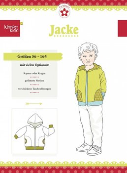 Klimperklein, Jacke, patroon van een jas voor zomer en winter in de maten 56/164