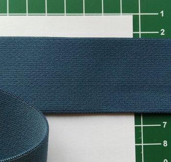 taille-elastiek 4 cm breed: jeansblauw /HALVE METER