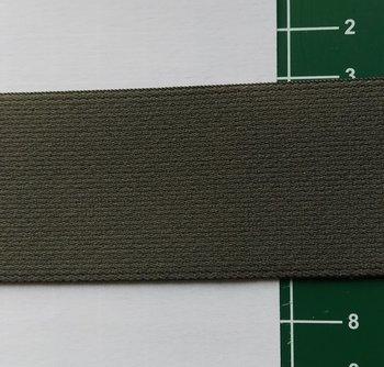 taille-elastiek 4 cm breed: donker taupe /HALVE METER