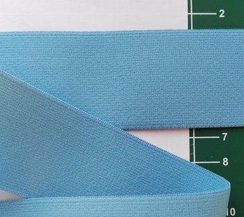 taille-elastiek 4 cm breed: licht-jeansblauw /HALVE METER