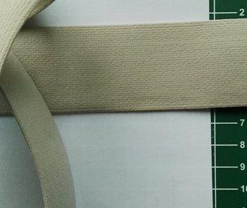 taille-elastiek 4 cm breed: zand /HALVE METER