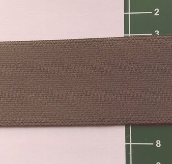 taille-elastiek 4 cm breed: taupe/HALVE METER