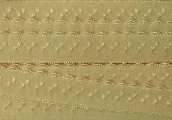 zand/beige omvouwelastiek met klein schulprandje op de vouw