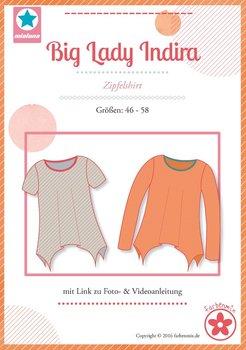 Big Lady Indira, A-lijn shirt in de maten 46 t/m 58