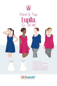 Lupita: jurk, topje en shirt in de maten 32 t/m 48 van Milchmonster