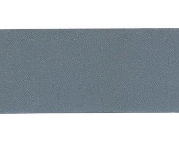 reflecterend band, effen donker zilver 3,8 cm