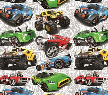 Hot Wheels: digitaal bedrukte tricot met verschillende auto's