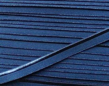 elastisch paspelband, jeansblauw